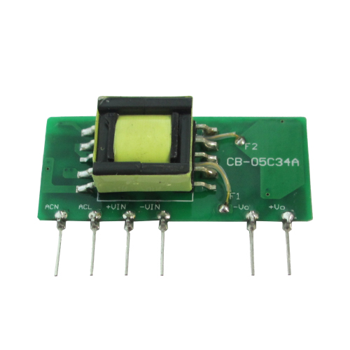 GS5 Series 5W 3KVac Isolation Single Output AC-DC Converter (Open Frame)