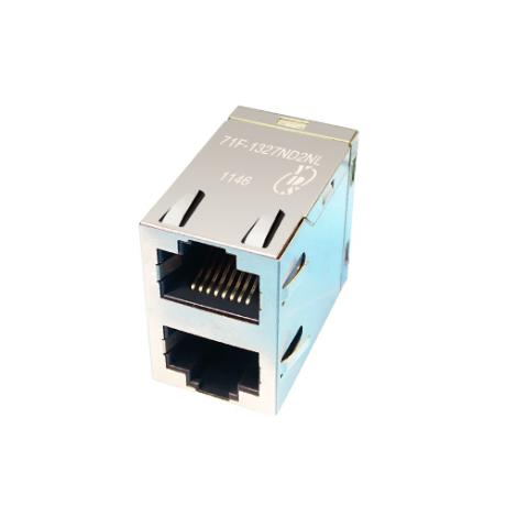 71F Series 2x1 Port 10/100/1000 Base-T TAB Up & Down RJ45 Jack With Magnetics