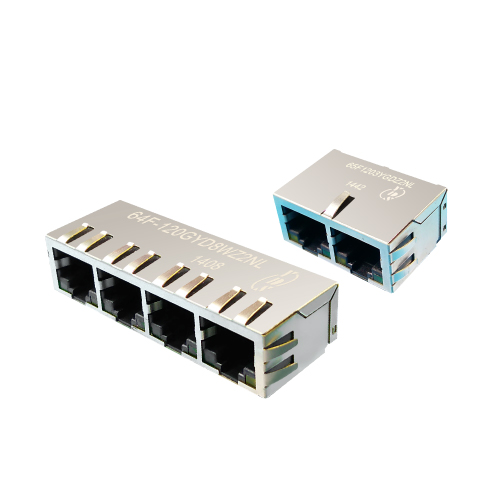 6XF Series 1xN Port 10/100/1000 Base-T TAB Down RJ45 Jack With Magnetics