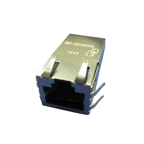 56F-19XX Series Single Port 1000 Base-T Include PD Controller PoE RJ45 Jack With Magnetics